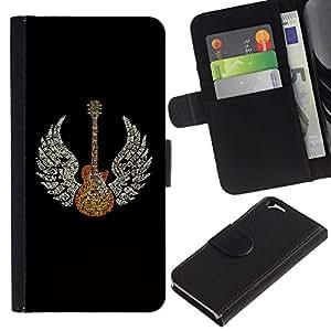 All Phone Most Case / Oferta Especial Cáscara Funda de cuero Monedero Cubierta de proteccion Caso / Wallet Case for Apple Iphone 6 // Guitar Wings Music Angel