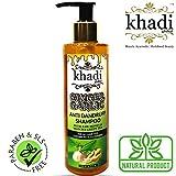 Khadi Global Ginger Garlic Anti Dandruff Shampoo with Raw Honeyand Matcha Green Tea 200 ml/6.76 fl.oz