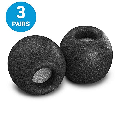 Comply Comfort Plus Tsx-100 Memory Foam Earphone Tips, Fits Etymotic, Klipsch, Shure, Westone & More, Noise Reducing Replacement Earbud Tips, Secure Fit (Medium, 3 Pairs)