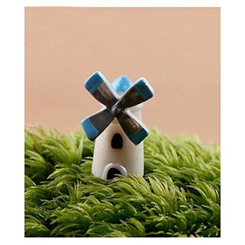 Saimoe Windmill house/moss micro-landscape/polymeat resin/creative crafts/home castle 1.1-2cm