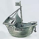 Elegance-88614-Pewter Finish Pirate Ship Money Bank