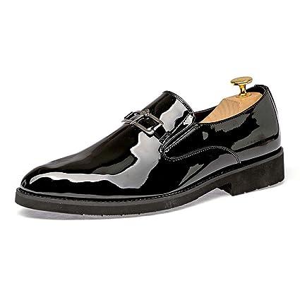 d72e7b0923f8d Image Unavailable. Image not available for. Color: Starttwin Men Dress  Shoes Unique Print Flower Shoes Slip ...