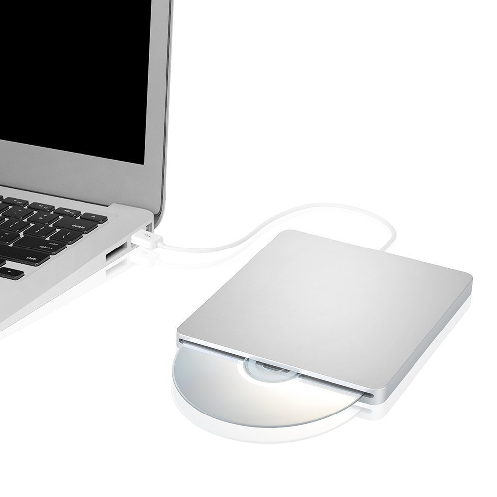 DoHonest ZSMJ External USB Slot DVD VCD CD Driver DVD-RW CD-RW Burner Superdriver for MacBook Air,MacBook Pro (Silver) by DoHonest (Image #4)