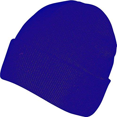 Absoluta ropa hombres adultos gorro Casualwear Beanie sombrero doble piel Pee Cap azul cobalto