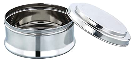 Expresso Multi purpose Storage Container Stainless Steel 420 ml Baleno Plain Jars   Containers
