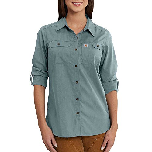 (Carhartt Women's Force Ridgefield Shirt, Lead, XL)