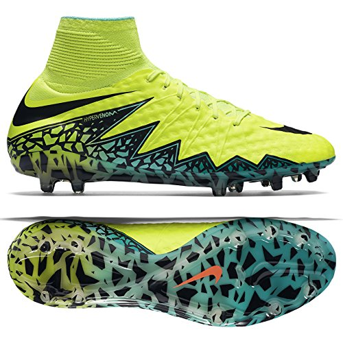 Nike Hypervenom Phantom II FG Volt/Black Hyper/Turq Clr Jade Shoes