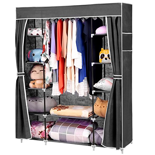 homdox-66inch-portable-wardrobe-metal-fabric-closet-organizer-storage-with-cover-and-side-pockets-an