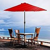 VINGLI 9-Feet Outdoor Patio Umbrella Aluminum Backyard Market Table Umbrella