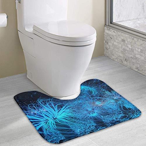 Beauregar Anemone Contour Bath Rugs,U-Shaped Bath Mats,Soft Memory Foam Bathroom Carpet,Nonslip Toilet Floor Mat 19.2″x15.7″