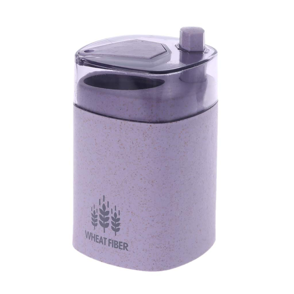 linlin Wheat Straw Automatic Toothpick Holder Container Storage ToothpickS Dispenser Box Table Decor Blue