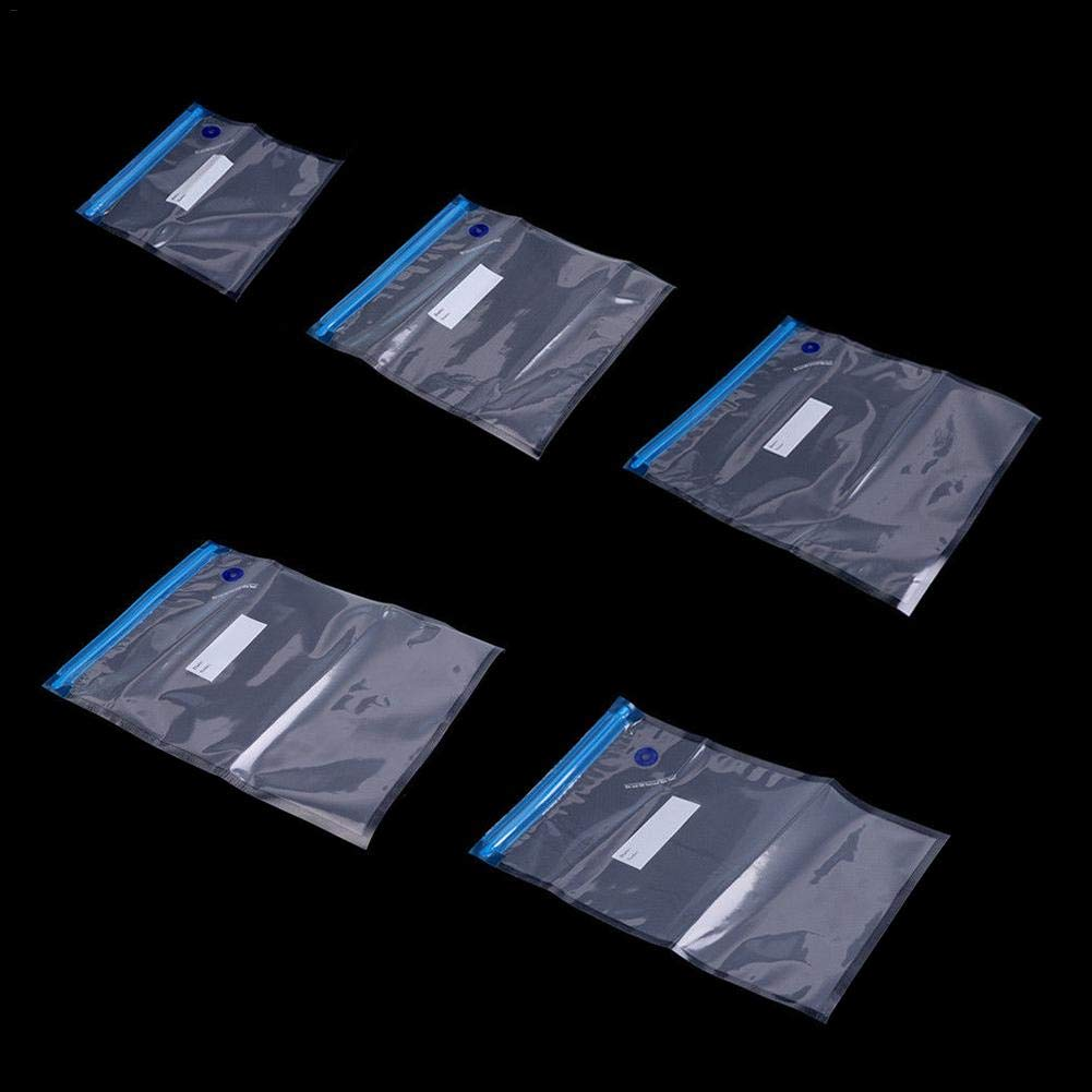 Aufbewahrungsbeutel f/ür Lebensmittelverpackungsbeutel Frischhaltesack 5 Blauer Vakuum-Auspuff-Aufbewahrungsbeutel