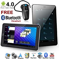 Phablet 7 Android 4.0 Tablet PC w/ GSM Phone WiFi Multi-Touch Screen Google Play Store - FREE Bluetooth Headset!