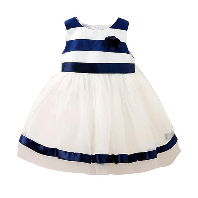 f48633f01 Tonwalk - Vestido - para niña azul marino 18 Meses: Amazon.es: Ropa y  accesorios