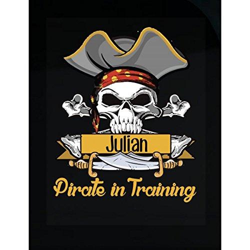 Prints Express Halloween Costume Julian Pirate in Training Kids Boy Girl Gift - Sticker -
