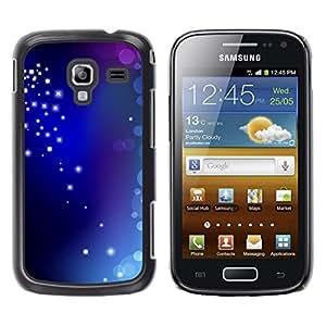 Royal estrellas y burbujas - Metal de aluminio y de plástico duro Caja del teléfono - Negro - Samsung Galaxy Ace 2