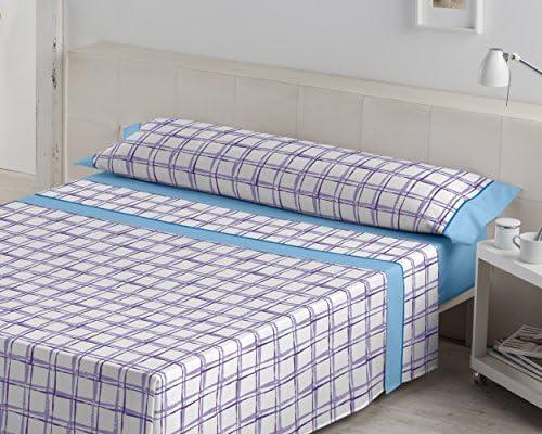ES-TELA - Juego de sábanas estampadas IRUN color Azul (3 piezas ...