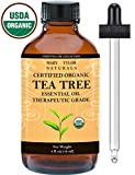 Organic Tea Tree Oil, Large 4 oz USDA Certified Organic, 100% Pure Essential Oil, Therapeutic Grade, Melaleuca alternifolia by Mary Tylor Naturals