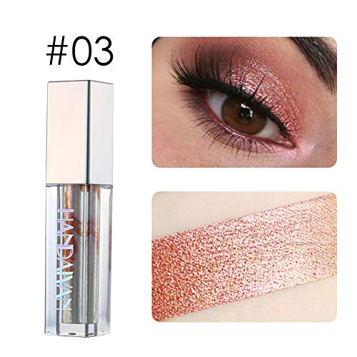 Yiitay 10 Colors Glitter Eyeshadow Liquid Eyeshadow Metals Glow and Glitter Liquid Eyeliner Highlighter Sparkling Eyeliner Eye Shadow Pen for Wedding Party Cosplay Makeup Cosmetic