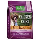 VitaLife Jerky Dog Treats - All Natural, Chicken Chips, 227 g