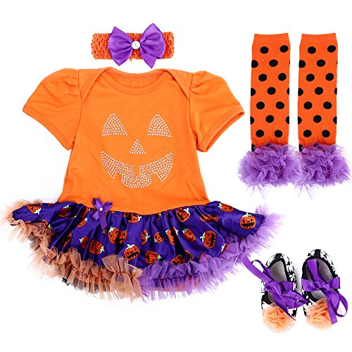 Easy Girl Halloween Costumes (TANZKY Baby Girl Halloween Costumes Tutu Dress Outfits Newborn Infant Romper Set)