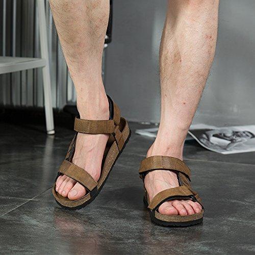 in Estate da ed uomo muli Comfort 6 con Passeggiate all'aperto uomo per pelle da casual escursioni uomo Sandali punta aperta 4qtSA