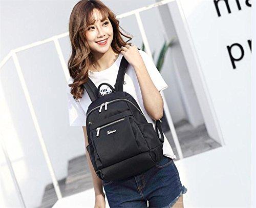 Sac dos tissu coréenne Oxford large occasionnels sac match MSZYZ femme nylon bag tous les en sac à marées mode Black zxpdzBq1