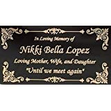 """Beautifully Engraved Plaque, Plate, Name Plate in Black and Gold - 4.5"""" x 2.5"""""""