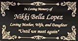 Beautifully Engraved Plaque, Plate, Name Plate in Black and Gold - 4.5'' x 2.5''