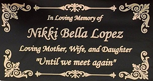 Beautifully Engraved Plaque, Plate, Name Plate in Black and Gold – 4.5″ x 2.5″
