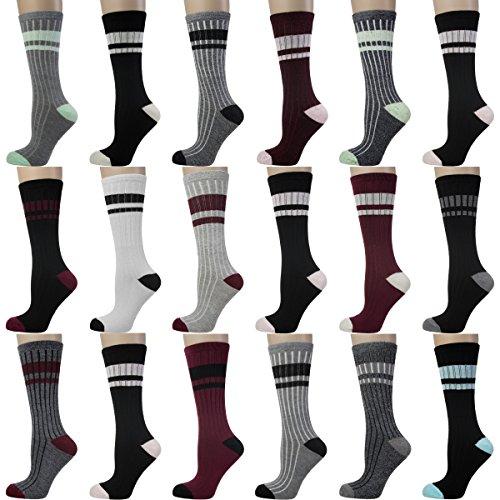 18-pairs-nicole-miller-new-york-womens-striped-crew-dress-socks-cute-ladies-stripes-crew-pack-shoe-s