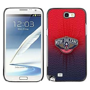SAMSUNG Galaxy Note 2 II / N7100 , Radio-Star - Cáscara Funda Case Caso De Plástico (New Orlean Pelican)
