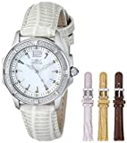 Invicta Women's 11782 Wildflower Mother-Of-Pearl Dial Silver-Tone Leather Watch Set