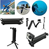 WALLER PAA 3 Way Hand Grip Flexible Tripod Extension Arm Monopod For Go Pro Selfie Stick