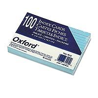 """Tarjetas de índice de color gobernado de Oxford, 4 """"x 6"""", azul, 100 por paquete (7421 BLU)"""