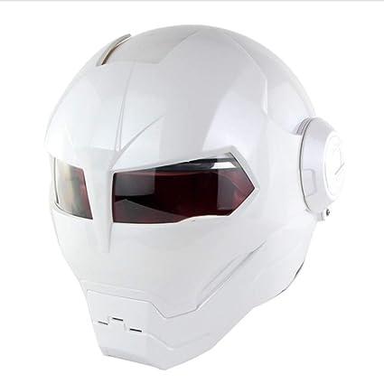YSHCasco De Moto Racing Racing De Motocross Casco De Moto Abierto Casco Moto Racing,White