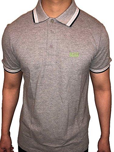 Hugo Boss Piqué Men's Paddy Polo Shirt (Grey, XXL) Boss Mens Clothing