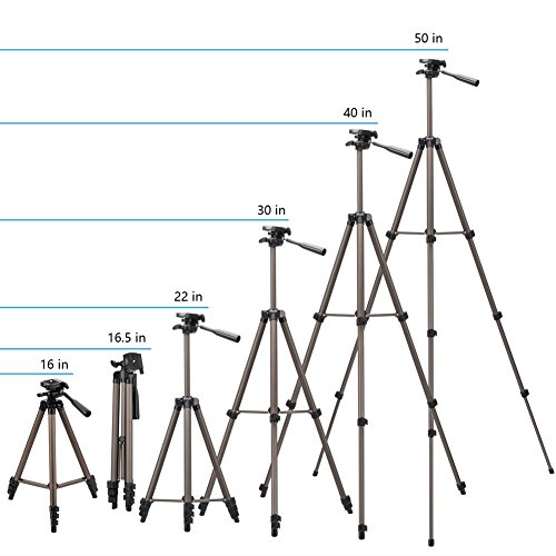 Eocean 50-inch Tripod, Cellphone Tripod, Lightweight Aluminum Tripod, Tripod Video Tripod Cellphone,Camera, Wireless Remote + Cellphone Holder Mount All Smart Cell Phone, Most Camera by Eocean (Image #2)