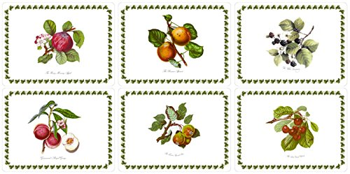 Portmeirion Pomona 'SMALL SIZE' Placemats 12 x 9'' (Box of 6) by Pimpernel