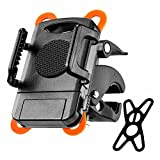 Bicycle Bike Phone Mount Holder for Any Smart Phone: iPhone X 8 8Plus 7 7Plus 6s 6Plus 5S - Galaxy S5 S6 S7 S8 - Google Nexus - LG and More - Washable Strong Sticky Gel Pad - 360 Degrees Rotatable Strap