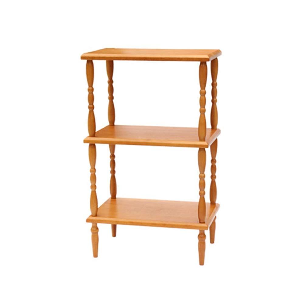 LJJL 長方形コーナー収納棚、純木のリビングルーム、ベッドルーム、キッチン収納ラック - 簡単設置16.7