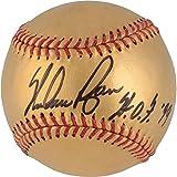 Nolan Ryan Texas Rangers Autographed 24 Karat Gold Baseball with HOF 99 Inscription - Fanatics Authentic Certified