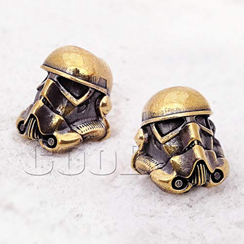 CooB EDC Paracord Bead Star Wars Darth Vader and Stormtrooper Pendant, Charm Zipper Pul. DIY Hand-Casted Metal Amazing Beads Pendants for Paracord Bracelet Lanyard Keychain (Stormtrooper Bronze) from CooB