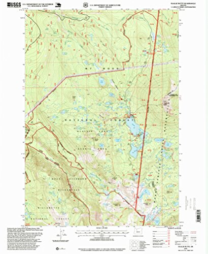 (YellowMaps Olallie Butte OR topo map, 1:24000 Scale, 7.5 X 7.5 Minute, Historical, 1997, Updated 1999, 26.8 x 22 in - Tyvek)