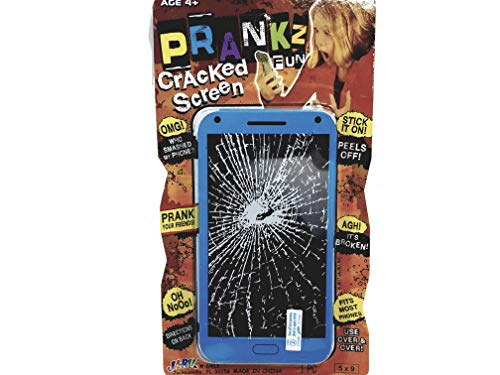 (PRANKZ Fake Cell Phone Cracked Screen Prank Novelty Broken)