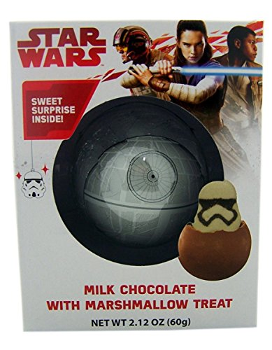 Star Wars Death Star Milk Chocolate Candy Bar with Surprise Stormtrooper Marshmallow Treat, 2.12 oz