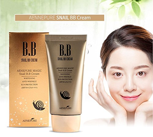 Snail BB cream SPF50+, PA +++ / Whitening, Anti-Wrinkle, Su