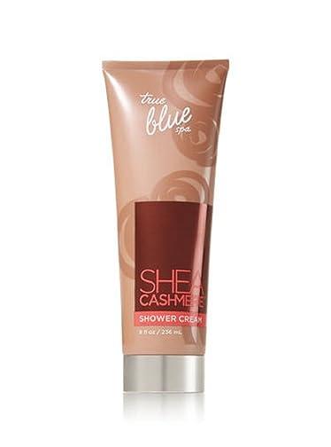Bath and Body Works True Blue Spa Shea Cashmere Shower Cream 8 Ounce