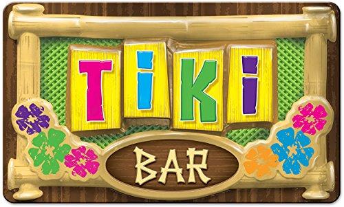 Large Plastic Tiki Sign Decoration