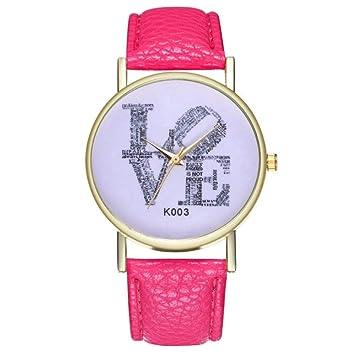 Zxzays Relojes de Moda para Mujer Reloj de Tendencia Temperamento Simple y Moderno,Rosa Caliente
